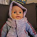 Bonnet-écharpe bébé
