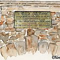 Saint Paul de Jarrat : fronton de la fontaine