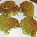 Galette de courgettes aux flocons de pois chiche - sans gluten