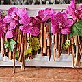 Tableau d'orchidees