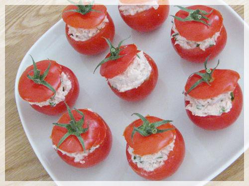 idée repas 6 personnes Petites bouchées de tomates en surprise   Le Bazar de Lili idée repas 6 personnes
