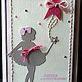 Un lift ... une fée ... une carte d'anniversaire pour fille !
