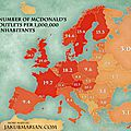 Number of McDonald's Per Million Inhabitants in Europe