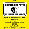 Comité des fêtes Villiers sur Orge