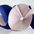 Création de sculptures en papier (50 exemplaires) pour les vitrines mondiales christian dior montres ligne