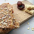 Barre abricot, amandes et chocolat blanc (sans cuisson)