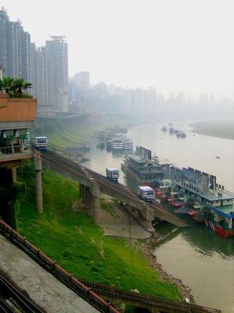 Chongqing embarcadère côté rivière Jialing