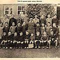 Ecole des garçons 1942-1943