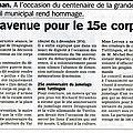 Draguignan: une avenue au nom du 15e corps d'armée