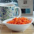 Salade carottes-clémentines et tisanes detox et omega-3 {detox, bonne mine, vegan}