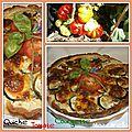 <b>Quiche</b> aux trois saveurs ( tomate, courgette, mozzarella ) ...