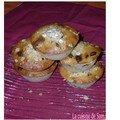 Muffins flocons d'avoine & raisins sesc