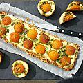 Tarte cheesecake à la ricotta, abricots et basilic {fou de pâtisserie}