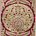 A large Ottoman voided silk velvet panel (yastik), Turkey, probably Bursa, <b>circa</b> <b>1700</b>