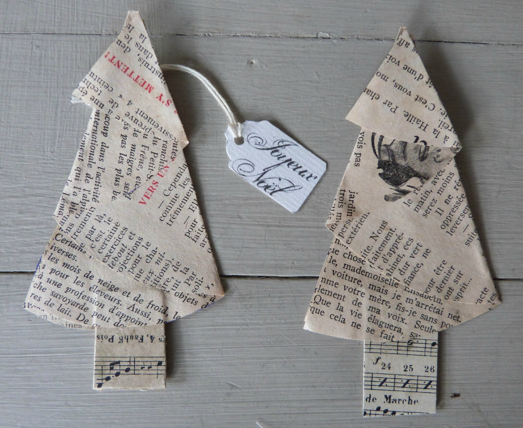 Christmas Tree papier ancien (12)