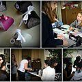 photos de l'atelier scrap à l'anniversaire de CELIA