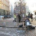 Célèbe artiste des rues de Prague