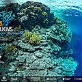 Annonce d'une exposition photographique au siège de l'unesco : récifs coraliens