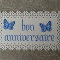 Titi 03 : bon anniversaire sur carton perforé
