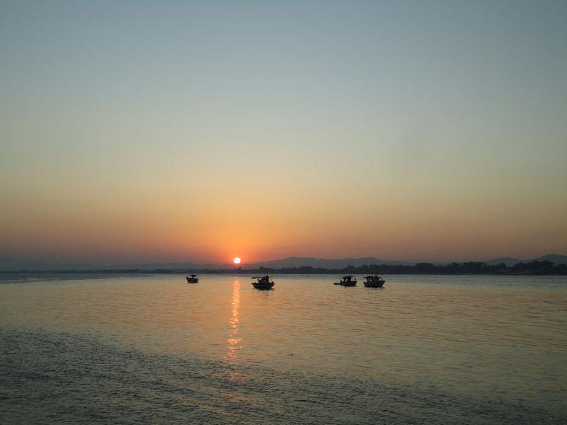 Le coucher de soleil du lundi 22 août 2011