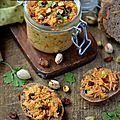 Rillettes de carottes à l'orientale {pistaches & raisins secs} #vegan #raw