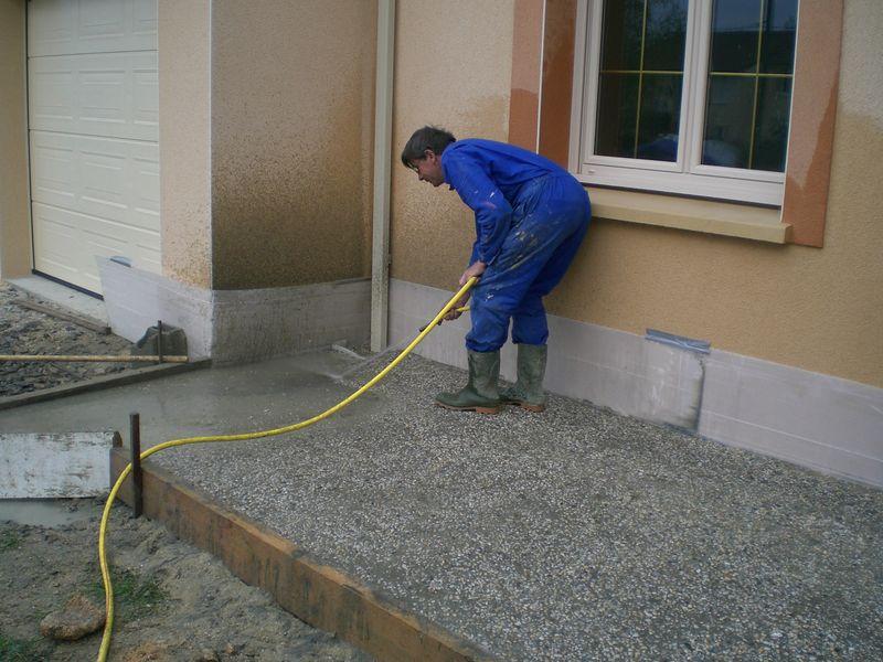 Le Gravier Lav Devant  Construction De Notre Maison
