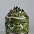 Pottery tripod incense burner, China, Eastern <b>Han</b> <b>dynasty</b>, 25 – 220