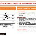 ÉCHÉANCE FISCAL MOIS DE SEPTEMBRE/D.R.CONGO SEPTEMBER <b>TAX</b> SCHEDULE