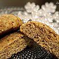 Lebkuchen (biscuits allemands moelleux aux amandes et épices)