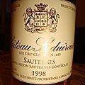 Chateau suduiraut 1998 sauternes 1er cru classé
