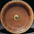 A rare simulated <b>gold</b> <b>and</b> <b>silver</b>-inlaid bronze tripod bowl, Qianlong relief-carved seal mark <b>and</b> of the period (1736-1795)