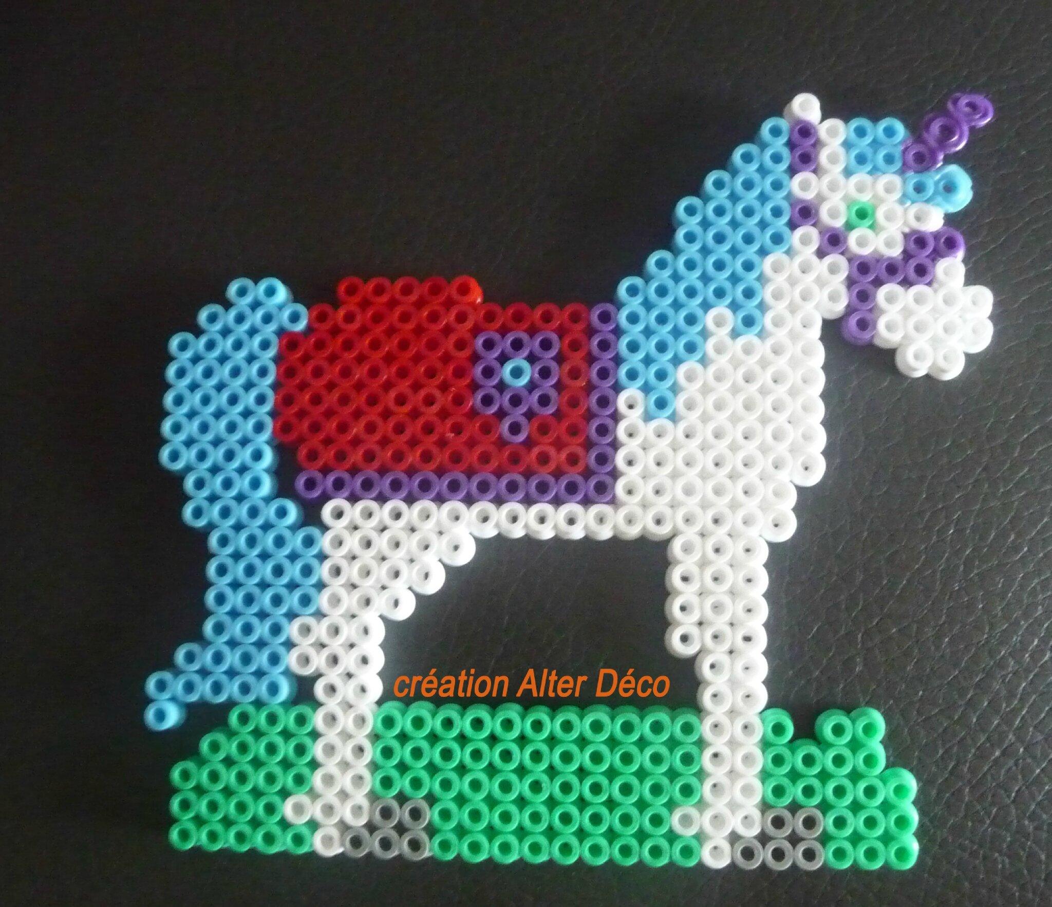 cheval en perles à repasser