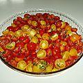 Petites tomates a l'huile d'olive
