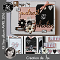 <b>Kit</b> Atelier <b>Tiny</b> <b>Album</b> d'Avril 2016 scrapé par Is@ de Belley