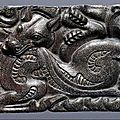 Northern Chinese Bronze Belt Buckle with Gold and Silver Inlay, <b>3rd</b>-<b>2nd</b> <b>century</b> <b>B</b>.<b>C</b>.E.
