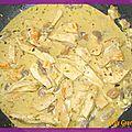 Poulet moutarde/champignons