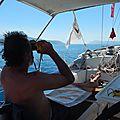 En route pour Navpaktos, 3 kt de vent, debout