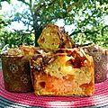 Gros muffin abricots/amandes fraîches/nougat de montélimar