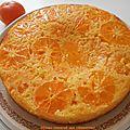 Gâteau renversé aux <b>clémentines</b>.