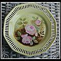 Assiette aux roses anciennes