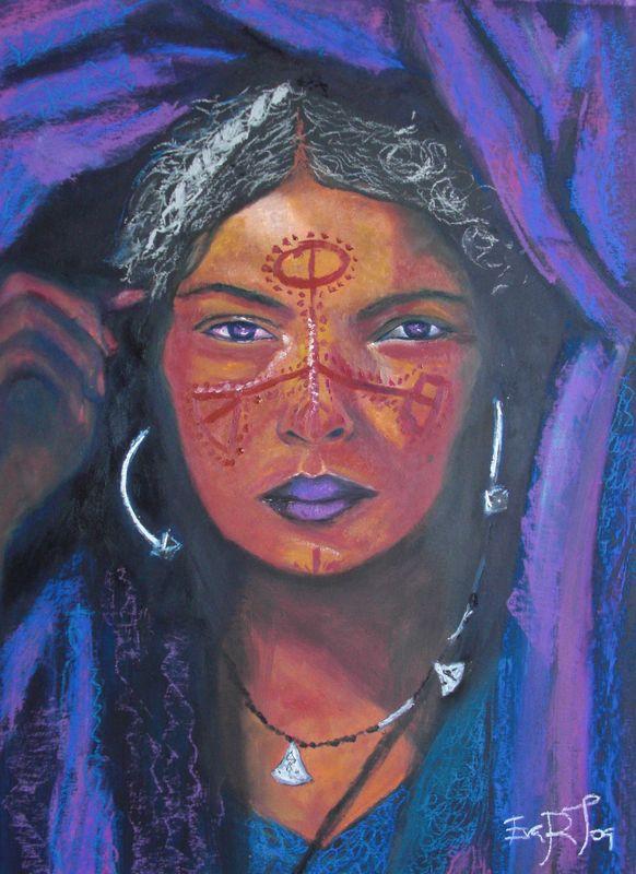 Retrato mujer tuareg II