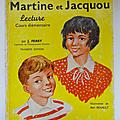 Livre de cours ... martine et jacquou (1965) * lecture