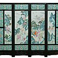 19th century <b>Chinese</b> <b>porcelain</b> screen hits $121,000 at Elite Decorative Arts auction