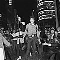 Michael jackson au carrefour de ginza, tokyo, le 28 septembre 1987