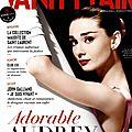 Audrey Hepburn dans <b>Vanity</b> Fair Août 2013