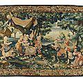 <b>Manufacture</b> <b>royale</b> de <b>Beauvais</b>, La Petite Reine, de la tenture des Jeux d'Enfants, d'après Florentin Damoiselet (1644-1690).