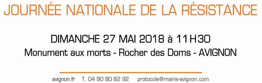 DImanche 27 mai 2018 à Avignon: journée nationale de la Résistance