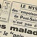 Pont-St-Esprit 1951 : le pain poison