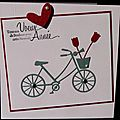 Une invitation à créer ... une inspi ... un vélo ... un bouquet de tulipes ... une carte de voeux !