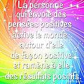 La personne qui envoie des pensées positives 💟...